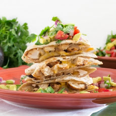 Grilled Honey Lime Chicken Quesadillas
