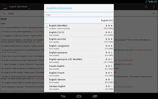 Screenshot of Offline dictionaries