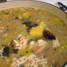 Turkey and Dressing Soup (Use up Those Leftovers Soup)