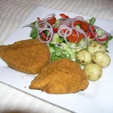 Chicken Kiev With Butter Bean Mash