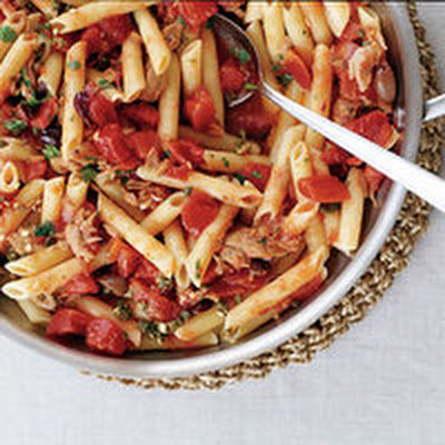 Tuna Puttanesca and Penne
