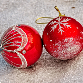 Christmas baubles by Irena Gedgaudiene - Public Holidays Christmas ( winter, ice, christmas, baubles, holidays )