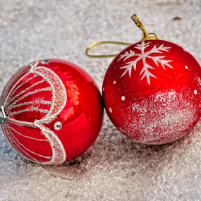 Christmas baubles by Irena Gedgaudiene - Public Holidays Christmas ( winter, ice, christmas, baubles, holidays, decoration, object,  )
