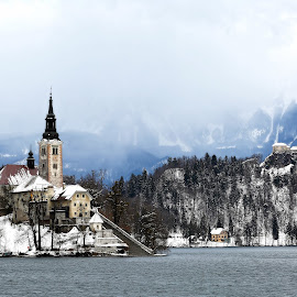 Lake Bled, winter 2015 by Almas Bavcic - Landscapes Travel