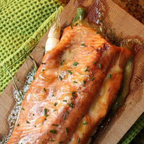 Roasted Salmon With Maple-Mustard Glaze