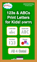 Screenshot of 123s ABCs Print Letters HWTP