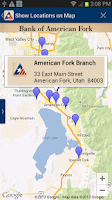 Screenshot of Bank of American Fork