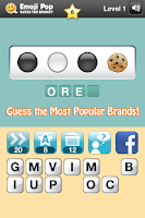 Screenshot of Emoji Pop - Guess the Brand™
