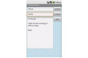 Screenshot of cc messaging / cc sms