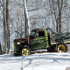 tenney hill by Shelby Taylor - Transportation Automobiles ( winter, monson, truck, antique, tenney hill )