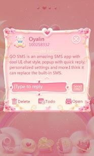 Free GO SMS Pro Bear Lovers Theme APK for Windows 8