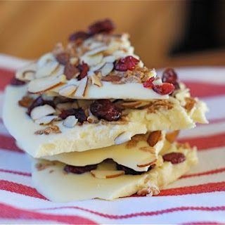 White Chocolate Bark with Fruit & Granola