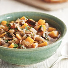 White Bean Stew with Porcini and Winter Squash