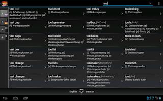 Screenshot of Free Dict German English