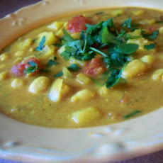 Moroccan Spiced Chickpea or Garbanzo Soup