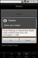 Screenshot of NewTribeZ Radio
