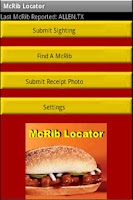 Screenshot of McRib Locator