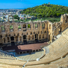 Odeon of Herodes Atticus (Herodeon) by Sergios Georgakopoulos - Buildings & Architecture Public & Historical ( ancient, odeon, greece, athens, herodeon )
