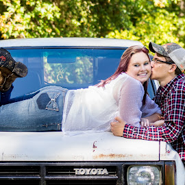 Country Couple by Dale Moore - People Couples ( farm, truck, couple, boots, country )