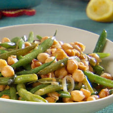Braised String Beans and Chickpeas