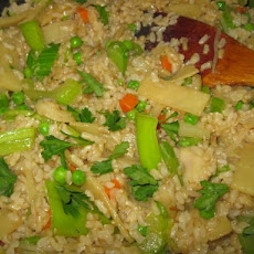 Aromatic Vegetable Fried Rice (Su Cai Chao Fan)