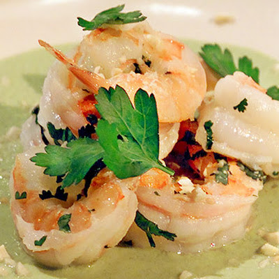 Rick's Shrimp in Green Almond Sauce