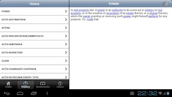 Screenshot of Law Dictionary