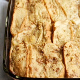Banana & Peanut Butter Baked French Toast