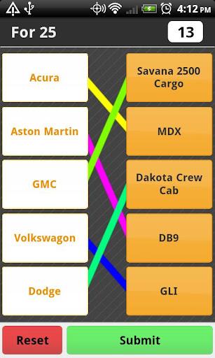 Car Model Match Game Free