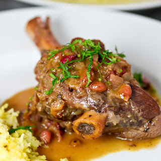 Braised Lamb Shanks in Cranberry