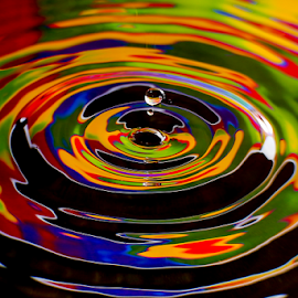 Waterdrop by Nancy Merolle - Nature Up Close Natural Waterdrops ( water, reflection, splash, waterdrop, colorful, drop, splash water photography )
