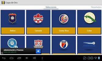 Screenshot of Gold Cup 2013