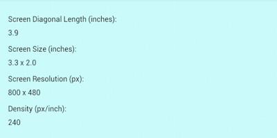 Screenshot of Screen Size & Resolution