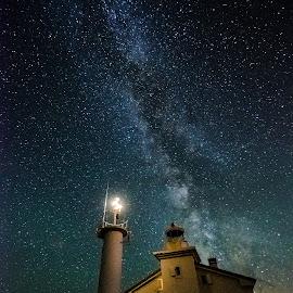 milky way rt Marlera by Elvis Malagić - Landscapes Starscapes ( istra, rt marlera, ližnjan, milky way )