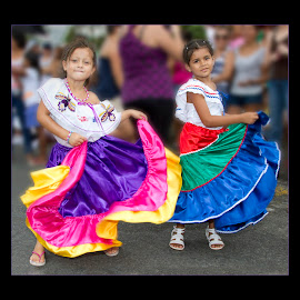 Independence Day  by Tom Reiman - Babies & Children Children Candids ( parade, colorful, costa rica, independence day,  )