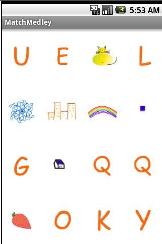 Basic shapes Alphabet Match