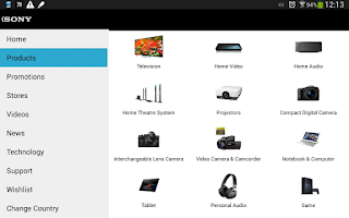 Screenshot of Explore by Sony