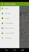 Screenshot of TripMate Adelaide Transit App