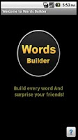 Screenshot of Words Builder For Friends