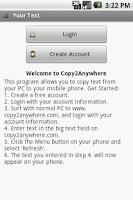 Screenshot of Copy 2 Anywhere