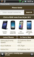 Screenshot of Phone Genie - GSMArena Browser