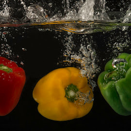by Lindsay O'Neil - Food & Drink Fruits & Vegetables ( peppers, red, colourful, splash, green, yellow )