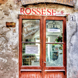 Wine sales by Roberta Sala - City,  Street & Park  Street Scenes ( wine, dolceacqua, italian, italian food, street, street scene, italy )