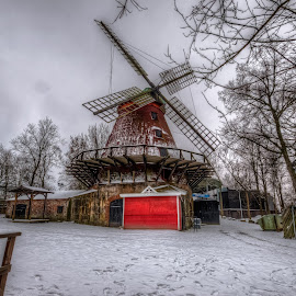 Samppalinna Windmill by Bojan Bilas - City,  Street & Park  Historic Districts ( building, hdr, park, architecture, windmill, city )