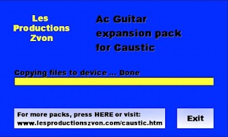 Screenshot of Acoustic Guitar for Caustic
