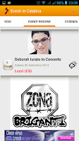 Screenshot of Eventi In Calabria