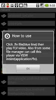Screenshot of FLV Player (alpha version)
