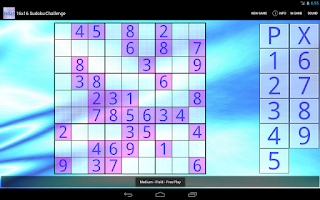 Screenshot of 16x16 Sudoku Challenge HD