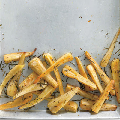 Baked Parsnip Fries with Rosemary