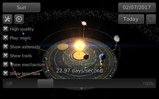 Screenshot of Orrery